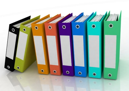 repository: folders for papers Stock Photo