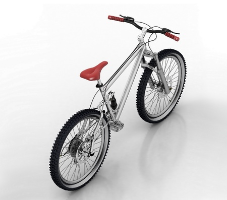 off road biking: Bicycle isolated on white background