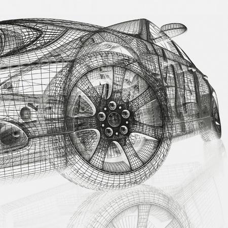 car drawing: 3d model cars