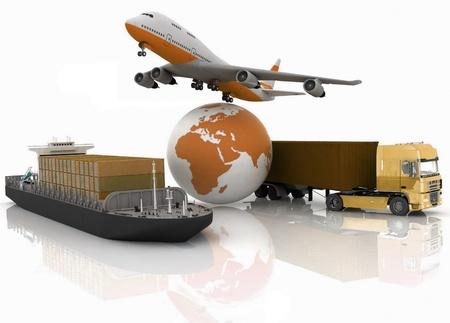 Arten von Transport von Lasten transportieren sind. Standard-Bild