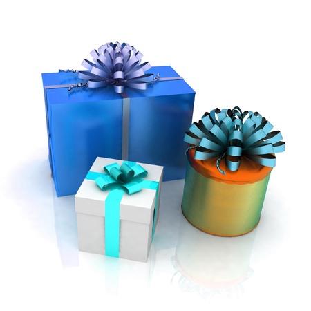 christmas time: Gift boxes