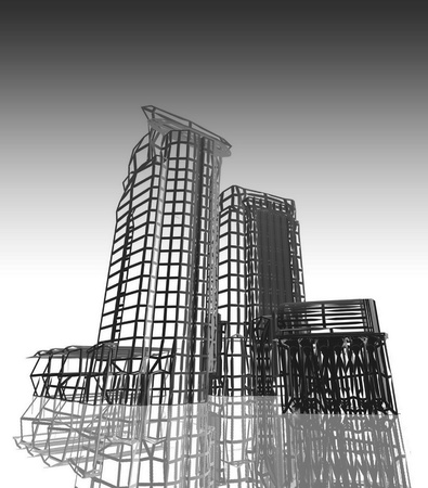 Abstract architectural 3D project photo