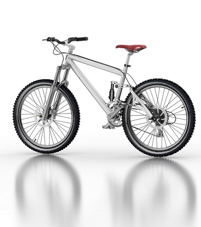Bicycle isolated on white background with reflection Stock Photo - 12114424