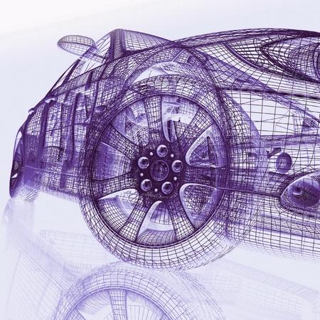 3d model cars Stock Photo - 12114857