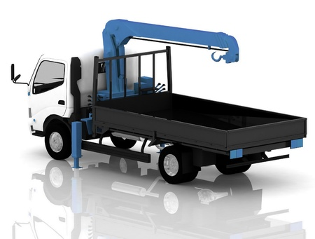 tow truck: tow  truck  of cars Stock Photo