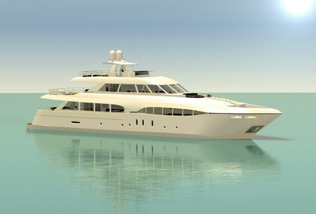 luxury white cruise yacht photo