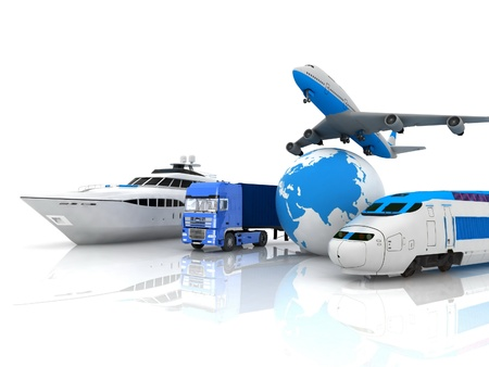 liner transportation: types of transport Stock Photo
