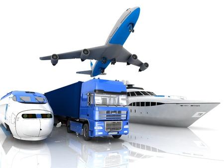 types of transport Stock Photo