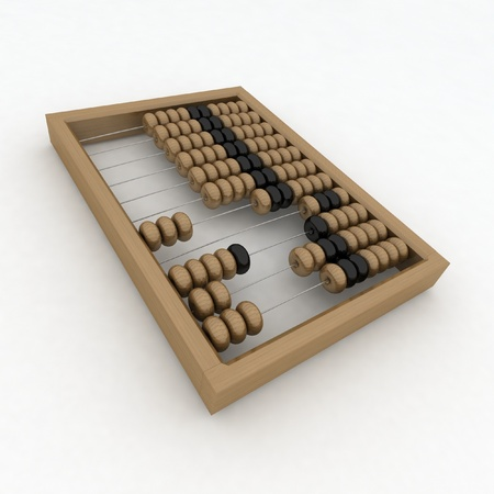 sums: Close-up of wooden abacus Stock Photo