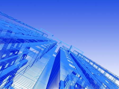 Abstract architectural 3D construction Stock Photo - 12135334