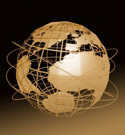 europa: Globe art  Stock Photo