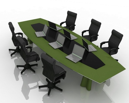 table for negotiations Stock Photo - 12135235