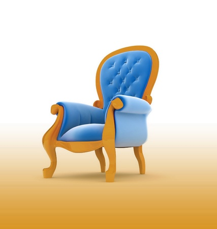 Armchair isolated on white photo