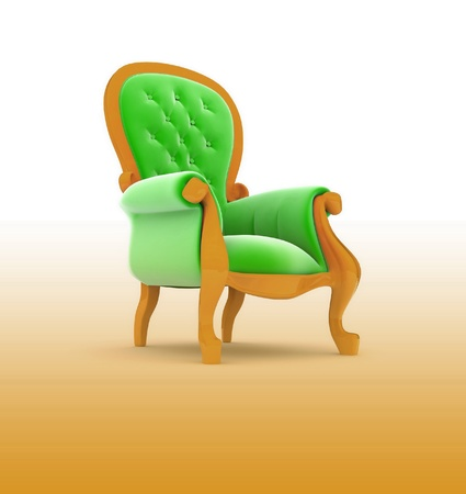 Armchair isolated photo