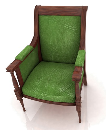 elbowchair: Close up view of the old elbow-chair