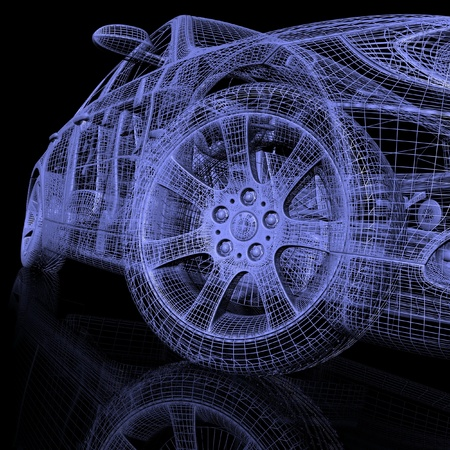 raytraced: 3d model cars
