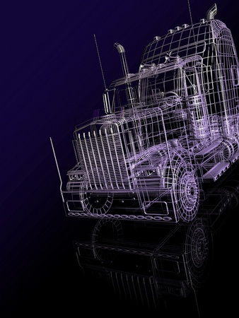 3d  booth of truck photo