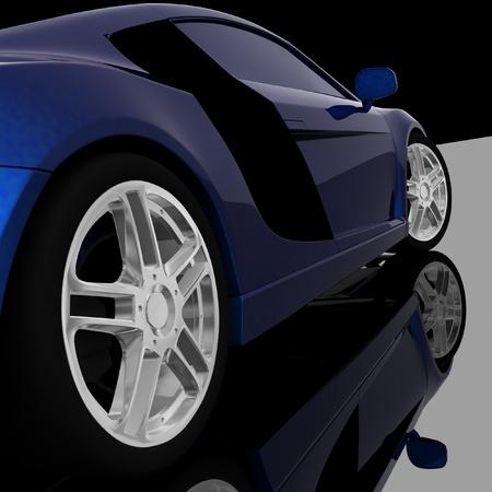 Closeup of wheels of machine on black background Stock Photo - 12230884