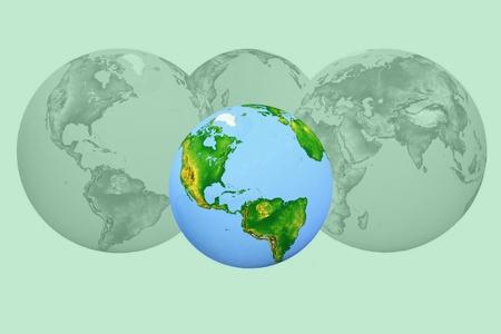 futurism image of earth photo