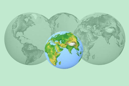futurism: futurism image of earth Stock Photo