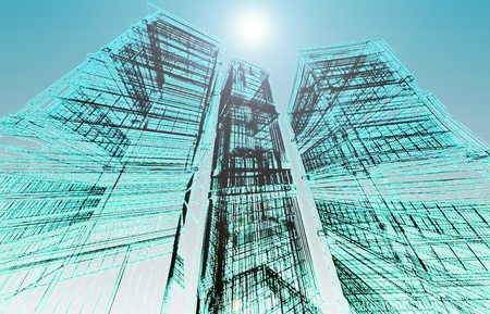 Abstract modern building Stock Photo - 12231155