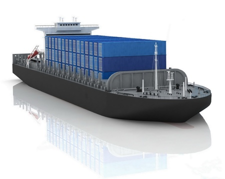 storage container: cargo ship