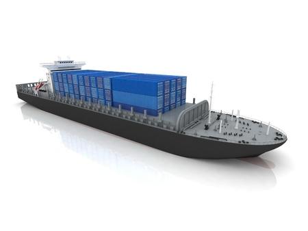 freight container: barco de carga