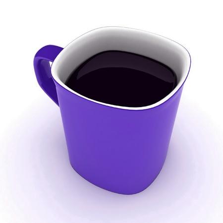faience: cup of coffee Stock Photo