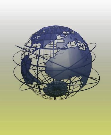 Global communication illustration Stock Photo
