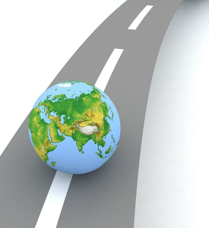 earth on the road