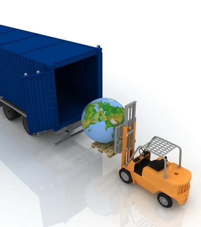 isolation: Loading of earth in a container
