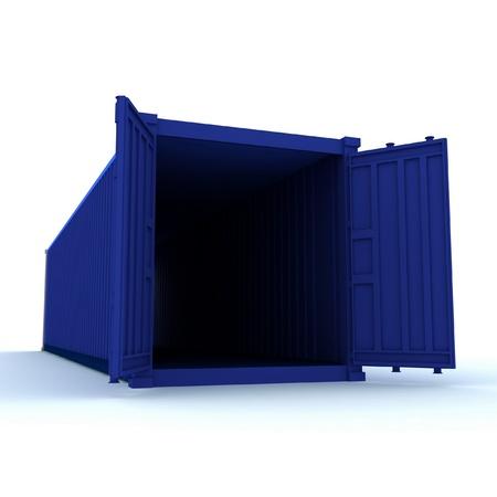cargo container: Open cargo container