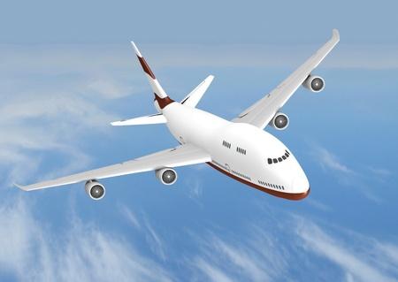 létání tryskové letadlo Reklamní fotografie - 12406156