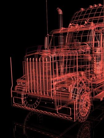 3d truck photo