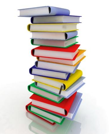 stacks of books photo