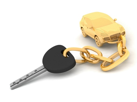 Car key on the white background photo
