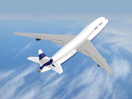 flying jet airplane photo