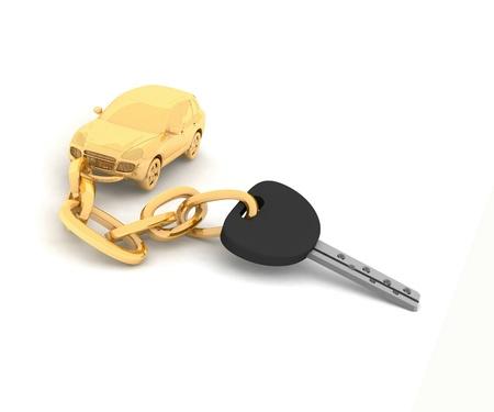 Car key on the white background photo