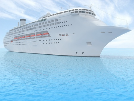 luxury white cruise ship  photo