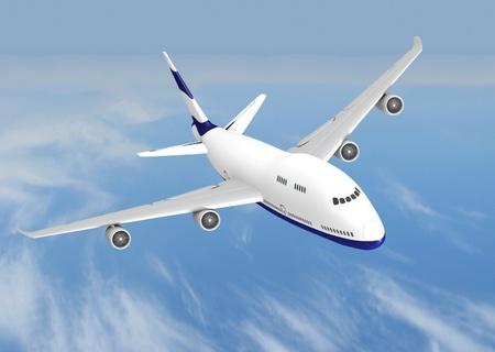 flying jet airplane Stock Photo - 12588509