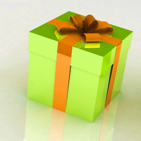 Gift on a white background Stock Photo - 12584793