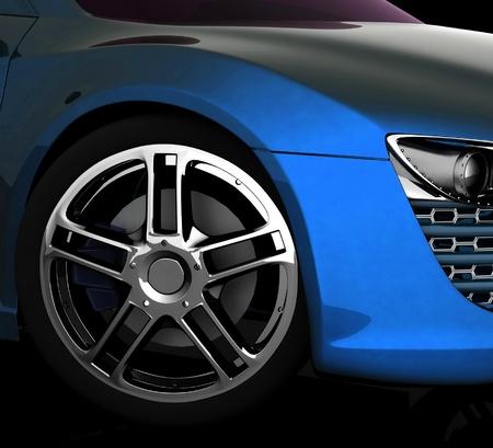silver sports car: 3d concept car