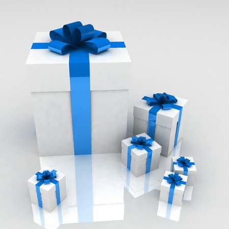 Gifts on a white background Stock Photo - 12584804