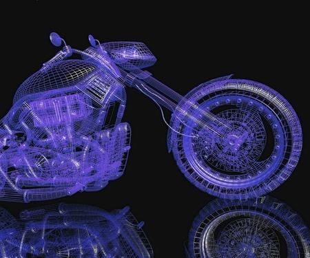 cycle ride: 3d sport bike