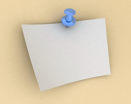 sheet of paper on the button Stock Photo - 12801033