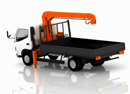 Tow truck of cars Stock Photo - 12801309