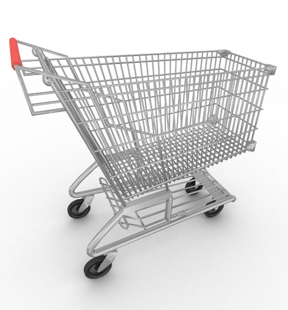 Empty shopping cart isolated on white background Stock Photo - 12801254