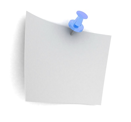 sheet of paper on the button