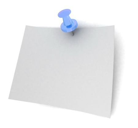 sheet of paper on the button photo