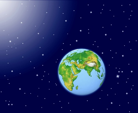 Planet earth in space photo